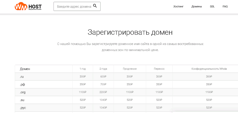 Стоимость доменов  .РФ и .РУС на хостинге